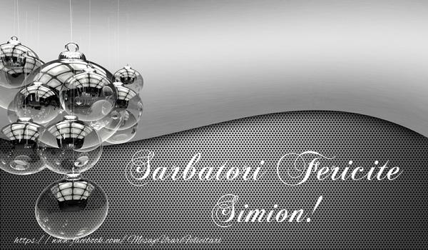 Felicitari de Craciun - Sarbatori fericite Simion!