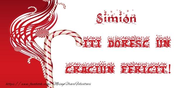 Felicitari de Craciun - Simion iti doresc un Craciun Fericit!