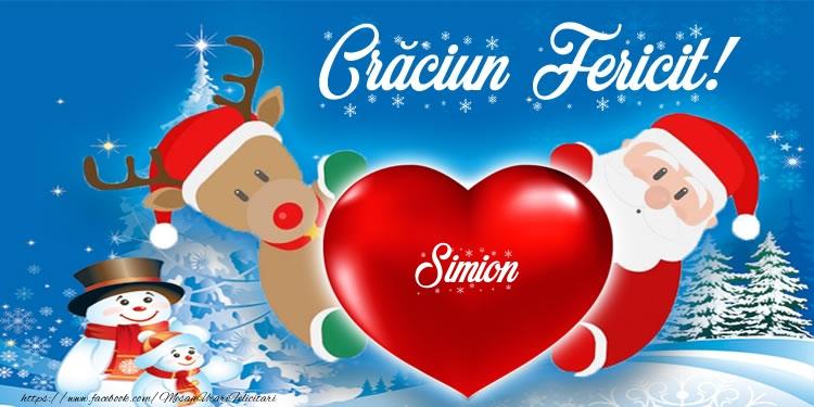 Felicitari de Craciun - Craciun Fericit! Simion