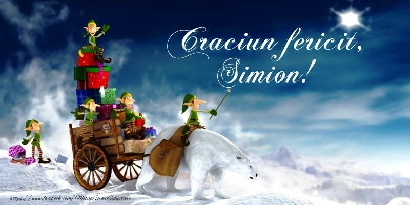 Felicitari de Craciun - Craciun fericit, Simion!