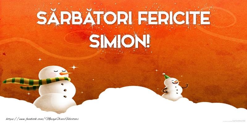 Felicitari de Craciun - Sărbători Fericite Simion!