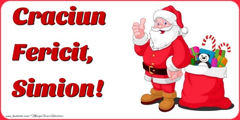 Felicitari de Craciun - Craciun Fericit, Simion