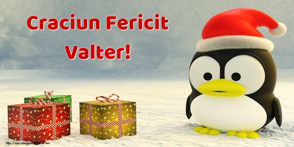 Felicitari de Craciun - Craciun Fericit Valter!