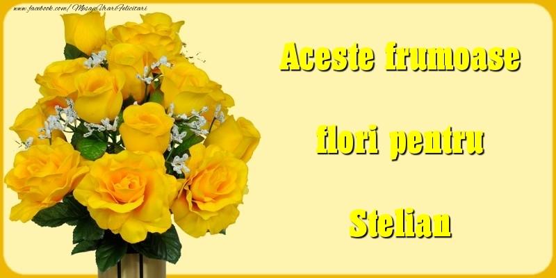 Felicitari Diverse - Aceste frumoase flori pentru Stelian