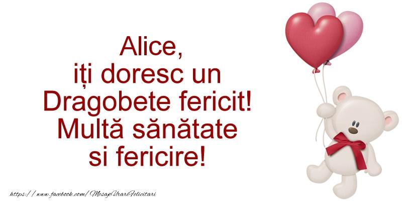 Felicitari de Dragobete - Alice iti doresc un Dragobete fericit! Multa sanatate si fericire!