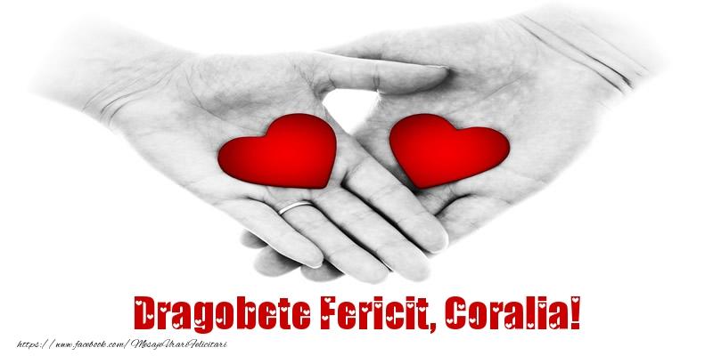 Felicitari de Dragobete - Dragobete Fericit, Coralia!