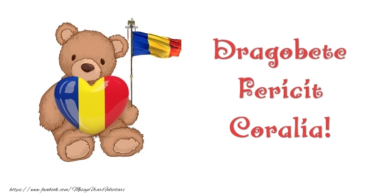 Felicitari de Dragobete - Dragobete Fericit Coralia!