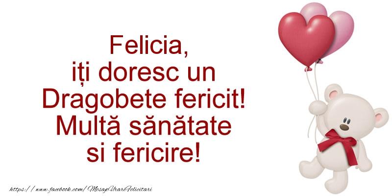 Felicitari de Dragobete - Felicia iti doresc un Dragobete fericit! Multa sanatate si fericire!