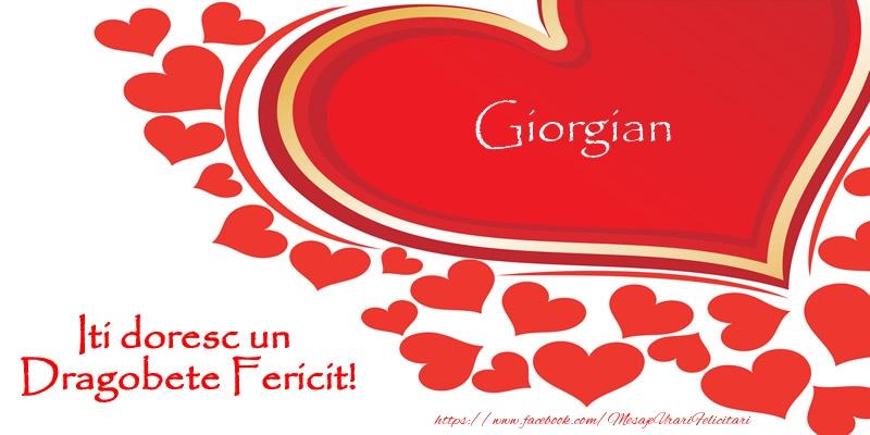 Felicitari de Dragobete - Giorgian iti doresc un Dragobete Fericit!
