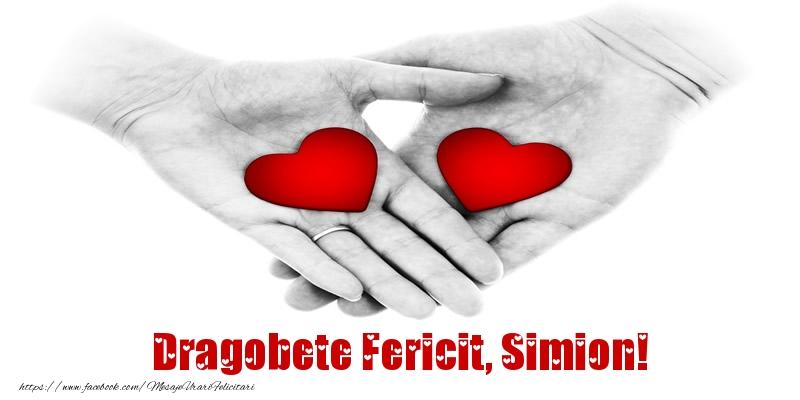 Felicitari de Dragobete - Dragobete Fericit, Simion!