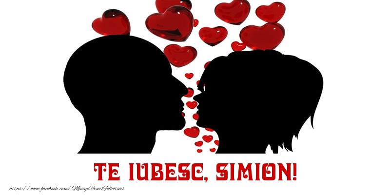 Felicitari de Dragobete - Te iubesc, Simion!