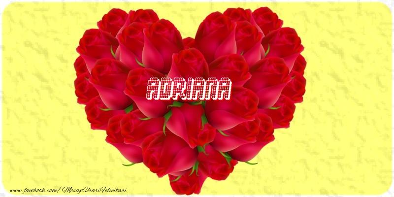 Felicitari de dragoste - Adriana