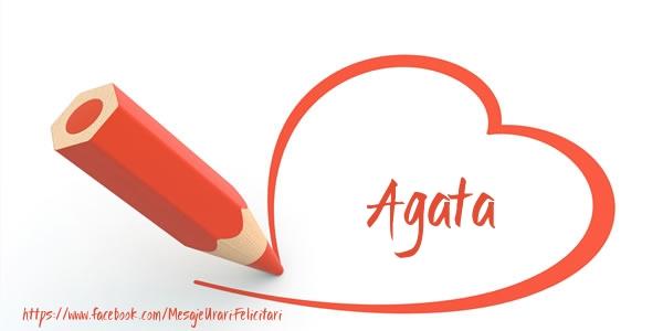 Felicitari de dragoste - Te iubesc Agata