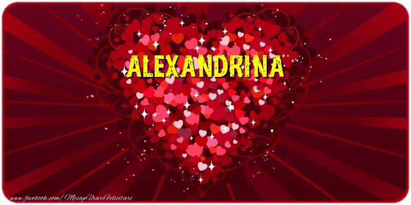 Felicitari de dragoste - Alexandrina