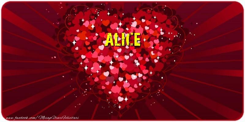 Felicitari de dragoste - Alice