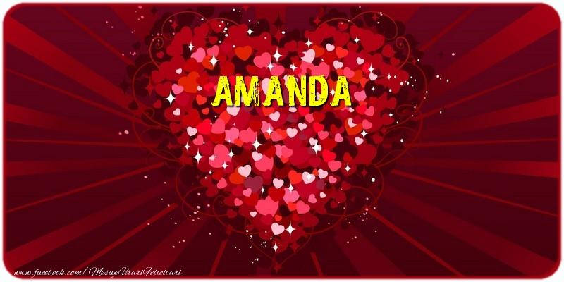 Felicitari de dragoste - Amanda