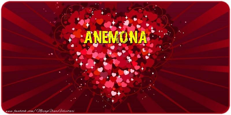 Felicitari de dragoste - Anemona