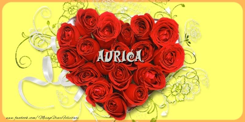 Felicitari de dragoste - Aurica