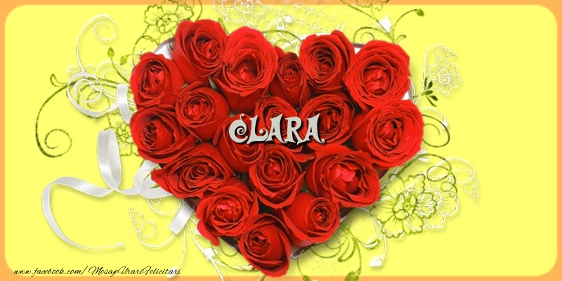 Felicitari de dragoste - Clara
