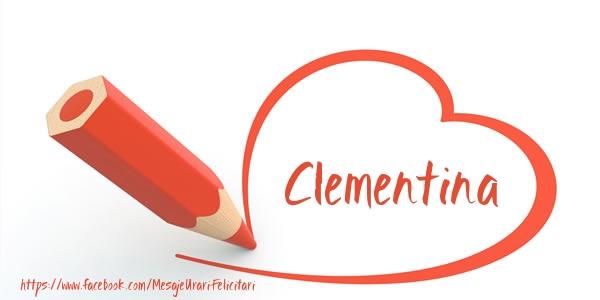 Felicitari de dragoste - Te iubesc Clementina