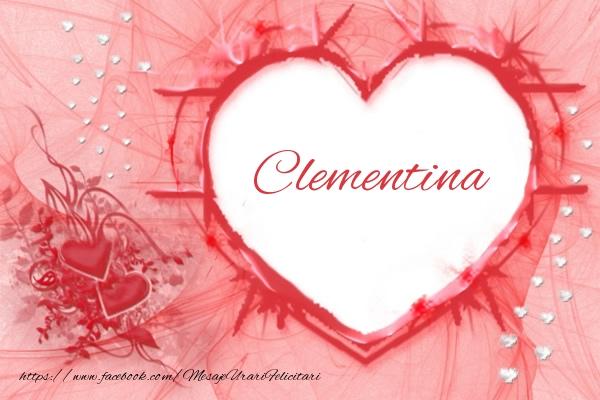 Felicitari de dragoste - Love Clementina