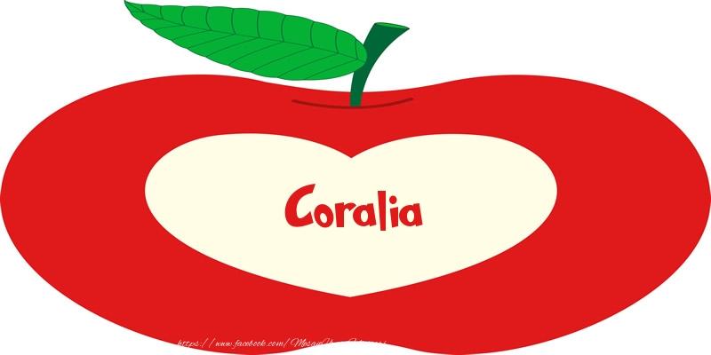 Felicitari de dragoste - O inima pentru Coralia
