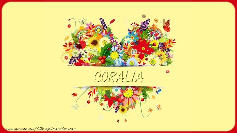 Felicitari de dragoste - Nume in inima Coralia