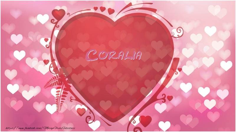 Felicitari de dragoste - Inima Coralia