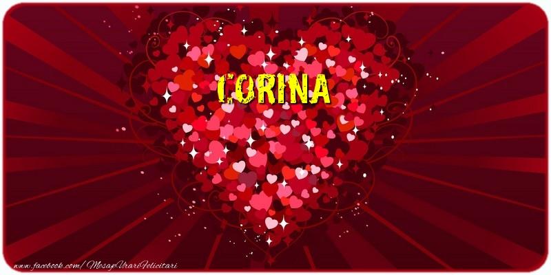Felicitari de dragoste - Corina