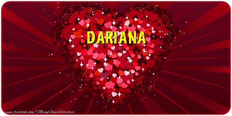 Felicitari de dragoste - Dariana