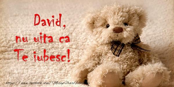 Felicitari de dragoste - David nu uita ca Te iubesc!