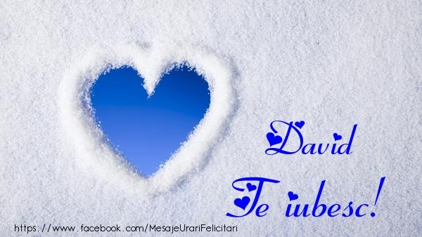 Felicitari de dragoste - David Te iubesc!