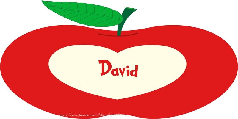 Felicitari de dragoste - O inima pentru David