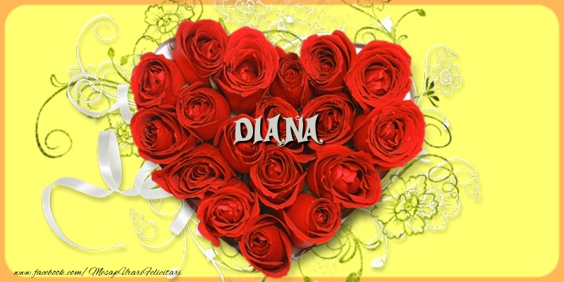 Felicitari de dragoste - Diana