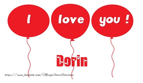 Felicitari de dragoste - I love you Dorin