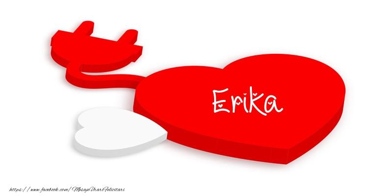 Felicitari de dragoste - Love Erika