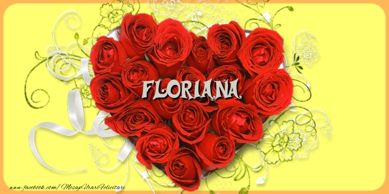 Felicitari de dragoste - Floriana