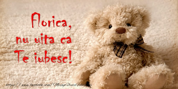 Felicitari de dragoste - Florica nu uita ca Te iubesc!