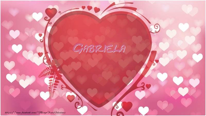 Felicitari de dragoste - Inima Gabriela