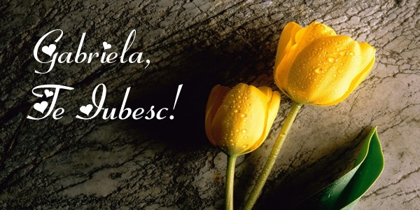 Felicitari de dragoste - Gabriela, Te iubesc!