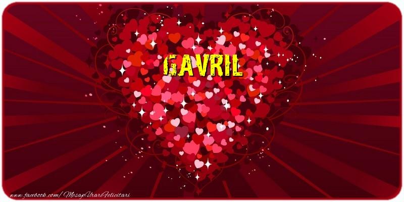 Felicitari de dragoste - Gavril