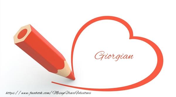 Felicitari de dragoste - Giorgian
