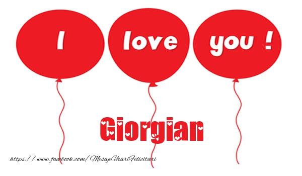Felicitari de dragoste - I love you Giorgian