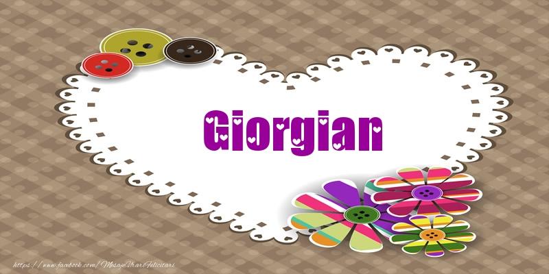 Felicitari de dragoste - Pentru Giorgian din inima
