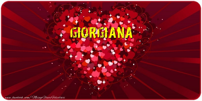 Felicitari de dragoste - Giorgiana