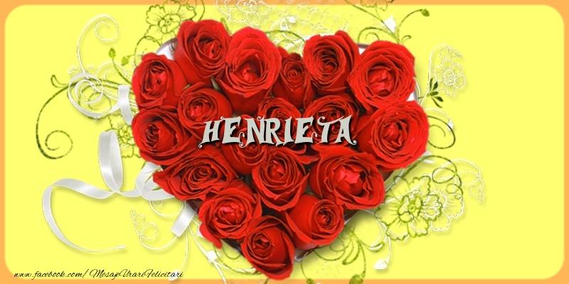 Felicitari de dragoste - Henrieta