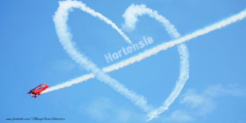 Felicitari de dragoste - Hortensia