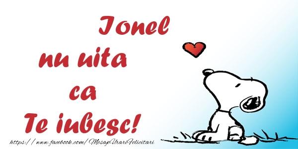 Felicitari de dragoste - Ionel nu uita ca Te iubesc!
