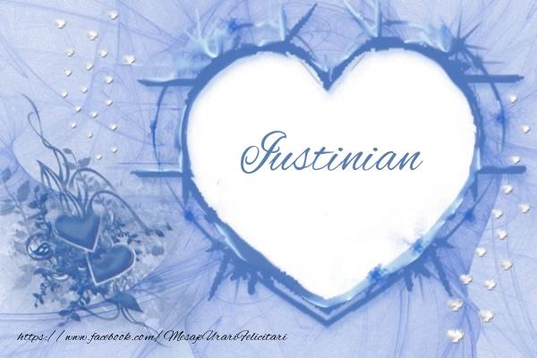 Felicitari de dragoste - Love Iustinian