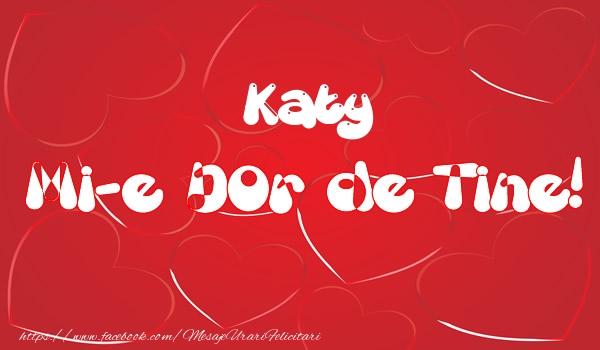 Felicitari de dragoste - Katy mi-e dor de tine!